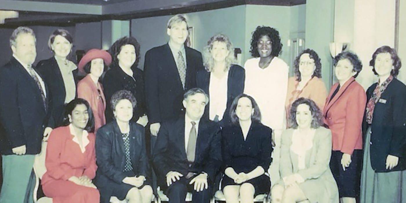 Old photo of CQL staff members
